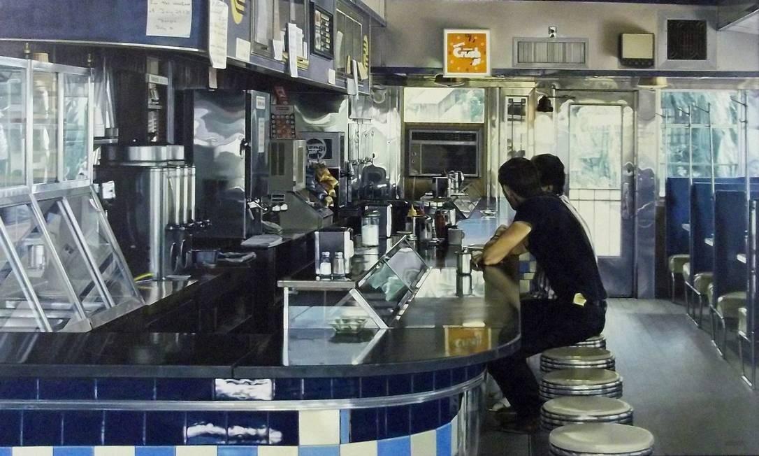 """""""Blue diner with figures"""", de Ralph Goings Foto: Divulgação"""