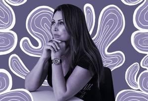 A paisagista Elaine Caparroz virou referência para muitas mulheres vítimas de violência é convidada para participar de eventos e palestras Foto: Gabriela Fittipaldi / Agência O Globo