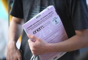 Contrato com gráfica que imprimirá provas do Enem 2019 foi assinado nesta terça-feira Foto: Terceiro / Luis Fortes/MEC
