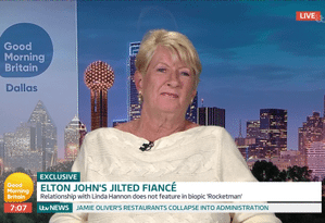 Linda Hannon, ex-noiva de Elton John Foto: Reprodução ITV