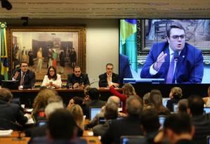 Sessão da CCJ: comissão pretende votar proposta de reforma tributária nesta quarta Foto: Jorge William - Agência O Globo