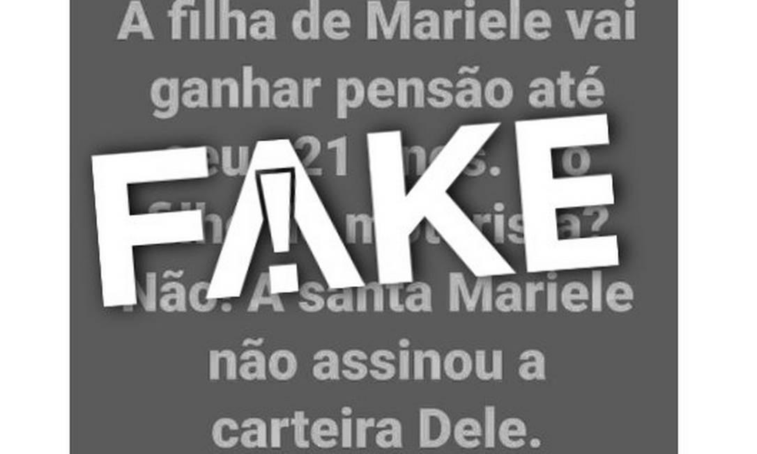 É #FAKE que filho de Anderson Gomes não recebe pensão por morte Foto: Reprodução