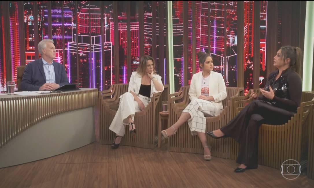 """Participação de Elaine no programa """"Conversa com Bial"""", exibido em 2 de maio pela TV Globo, onde falou sobre feminicídio e violência doméstica contra mulheres Foto: Reprodução / TV GLobo"""