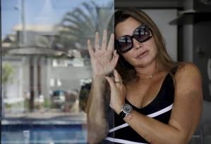 Elaine Caparroz, paisagista, foi vítima de agressão em casa Foto: Custódio Coimbra / Agência O Globo