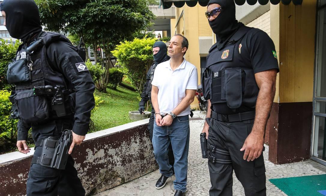 Ex-governador do Rio, Sérgio Cabral realiza exame de corpo de delito em IML de Curitiba Foto: Geraldo Bubniak 19-01-2018 / Agência O Globo