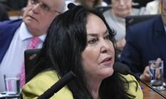A senadora Rose de Freitas (Podemos-ES), durante sessão da Comissão de Constituição, Justiça e Cidadania (CCJ) Foto: Geraldo Magela/Agência Senado