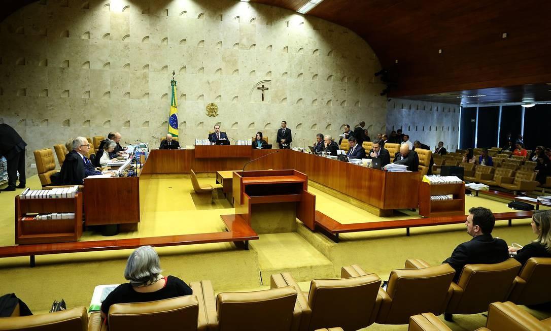 Sessão no plenário do Supremo Tribunal Federal Foto: Jorge William / Agência O Globo
