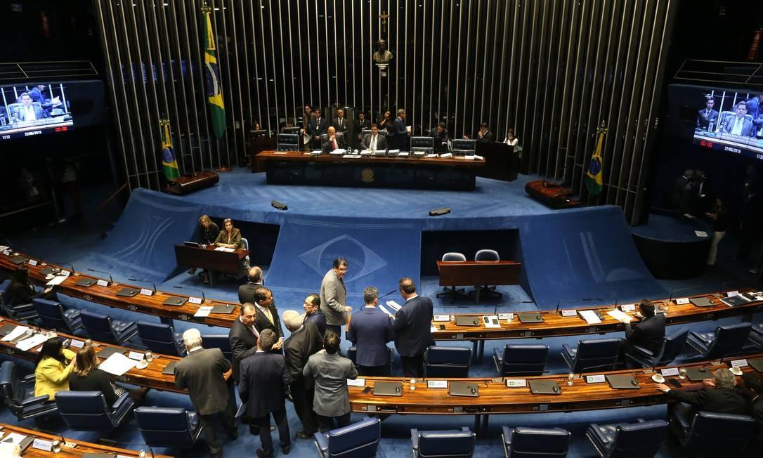 Sessão de votação da MP das Aéreas no plenário do Senado Federal. Foto: Jorge William / Agência O Globo