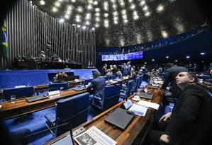Plenário do Senado, durante sessão Foto: Marcos Oliveira/Agência Senado