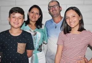 Família catarinense morreu em apartamento de Santiago, no Chile Foto: Arquivo pessoal