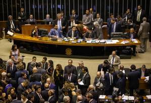 Em votacao no plenario da camara na noite desta quarta-feira, a maioria decidi que o COAF volte para o Ministerio da Economia. Foto: Daniel Marenco / Agência O Globo