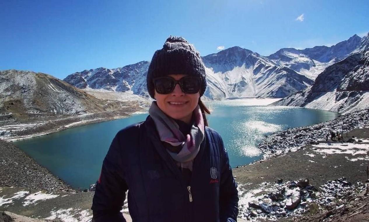 Adriane durante viagem para o Chile Foto: Reprodução/Instagram