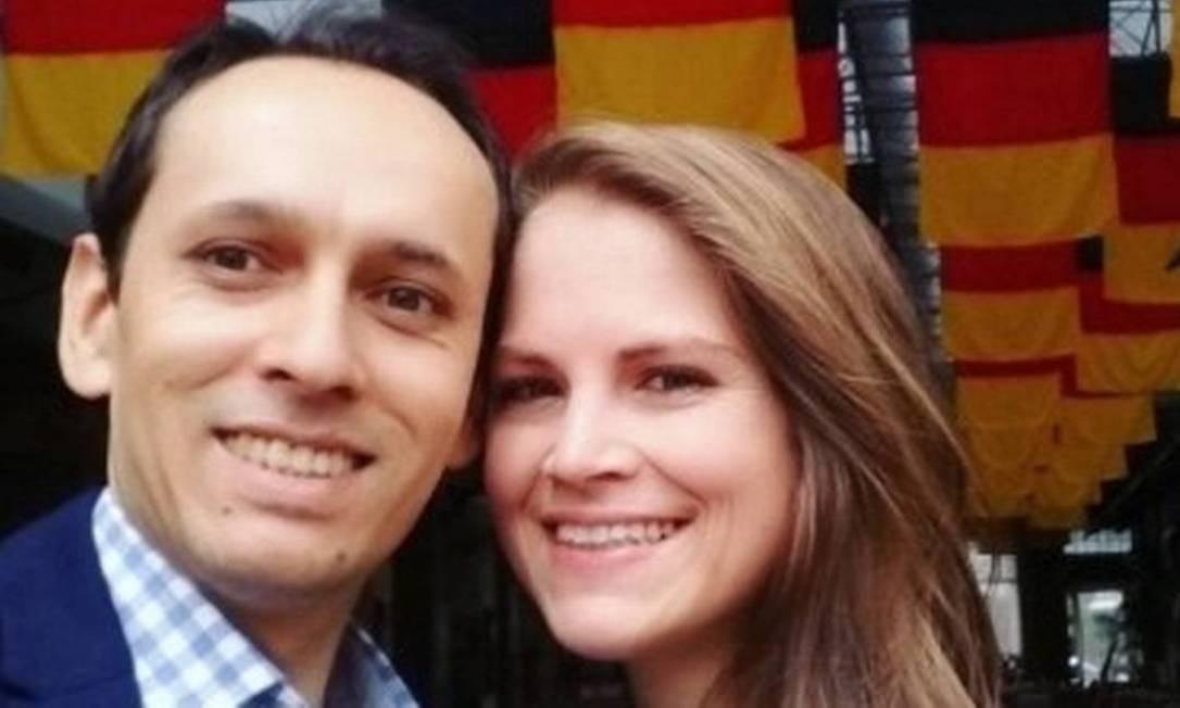 Jonathas e Adriane Krueger celebravam com parentes o aniversário da sobrinha e afilhada dele, Karoliny Nascimento de Souza, em Santiago Foto: Arquivo pessoal