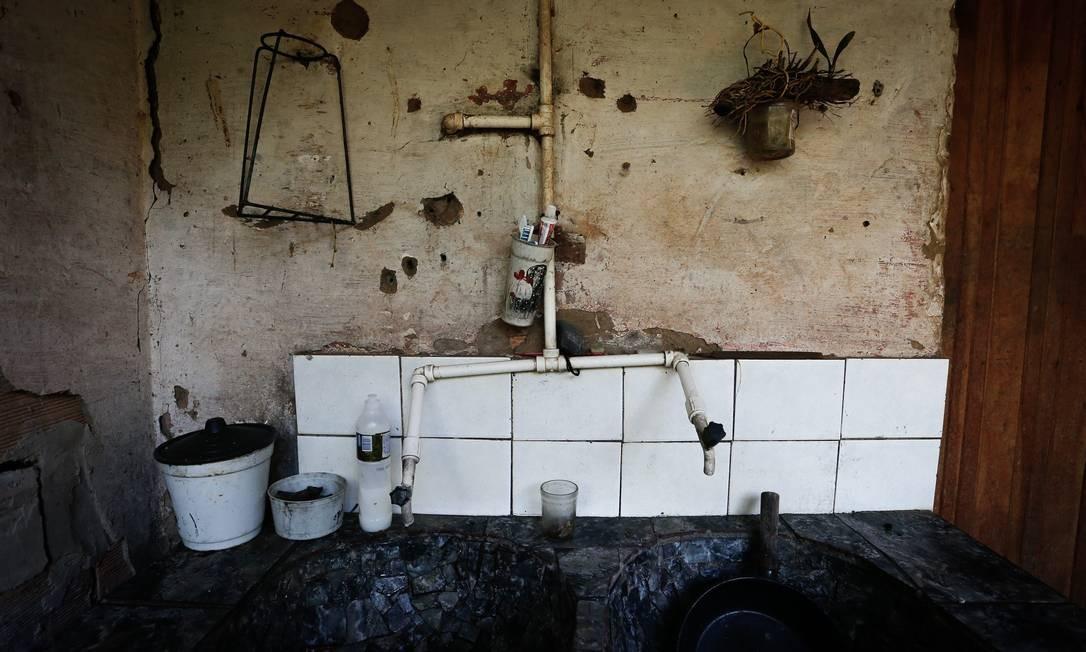 Desde então, as casas foram visitadas apenas por profissionais da Vale por pelo menos 20 dias Foto: Pablo Jacob / Agência O Globo