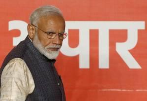 Primeiro-ministro indiano, Narendra Modi, em Nova Délhi Foto: ADNAN ABIDI / REUTERS