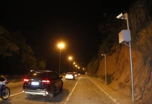 Radar de velocidade em rodovia em Niterói 23/05/2019 Foto: Fábio Guimarães / Agência O Globo