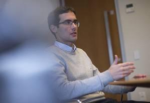 Leonardo Fonseca, economista chefe do banco Credit Suisse, em entrevista ao GLOBO Foto: Edilson Dantas / Agência O Globo