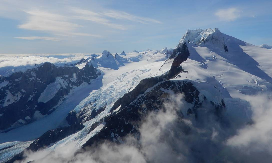 Campo de gelo na Patagônia chilena é rompido por mudanças climáticas, dizem cientistas Foto: Divulgação