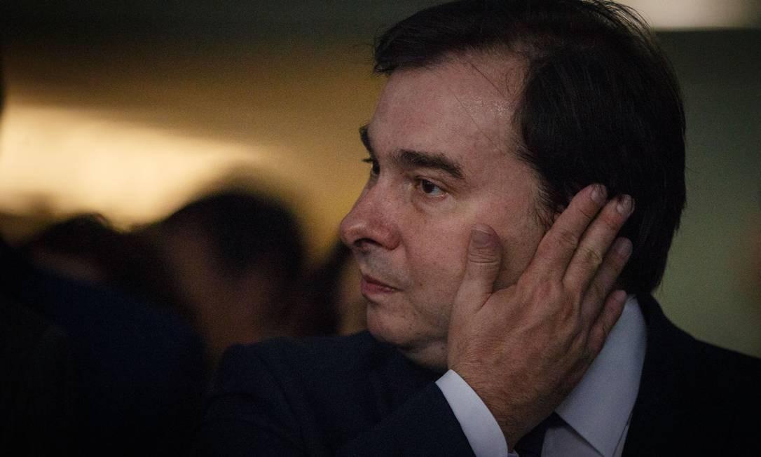 O presidente da Camara dos Deputados, Rodrigo Maia Foto: Daniel Marenco / Agência O Globo -21/05/2019 -
