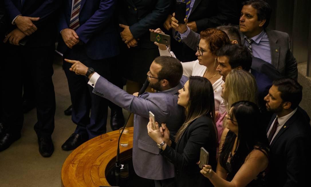 Votação no plenário da Câmara dos Deputados, no dia 22 de maio Foto: Daniel Marenco / Agência O Globo