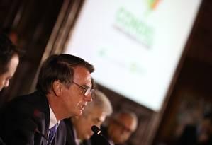 O presidente Jair Bolsonaro durante encontro com governadores do Nordeste em Recife Foto: Marcos Corrêa- PR