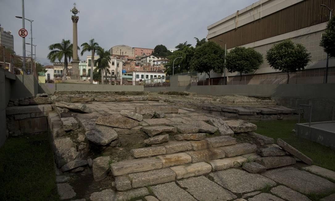 Cais do Valongo. Construído em 1811, foi local de desembarque e comércio de escravizados africanos até 1831. Em 2017, o local recebeu da Unesco o título de Patrimônio Histórico da Humanidade Foto: Márcia Foletto / Agência O Globo