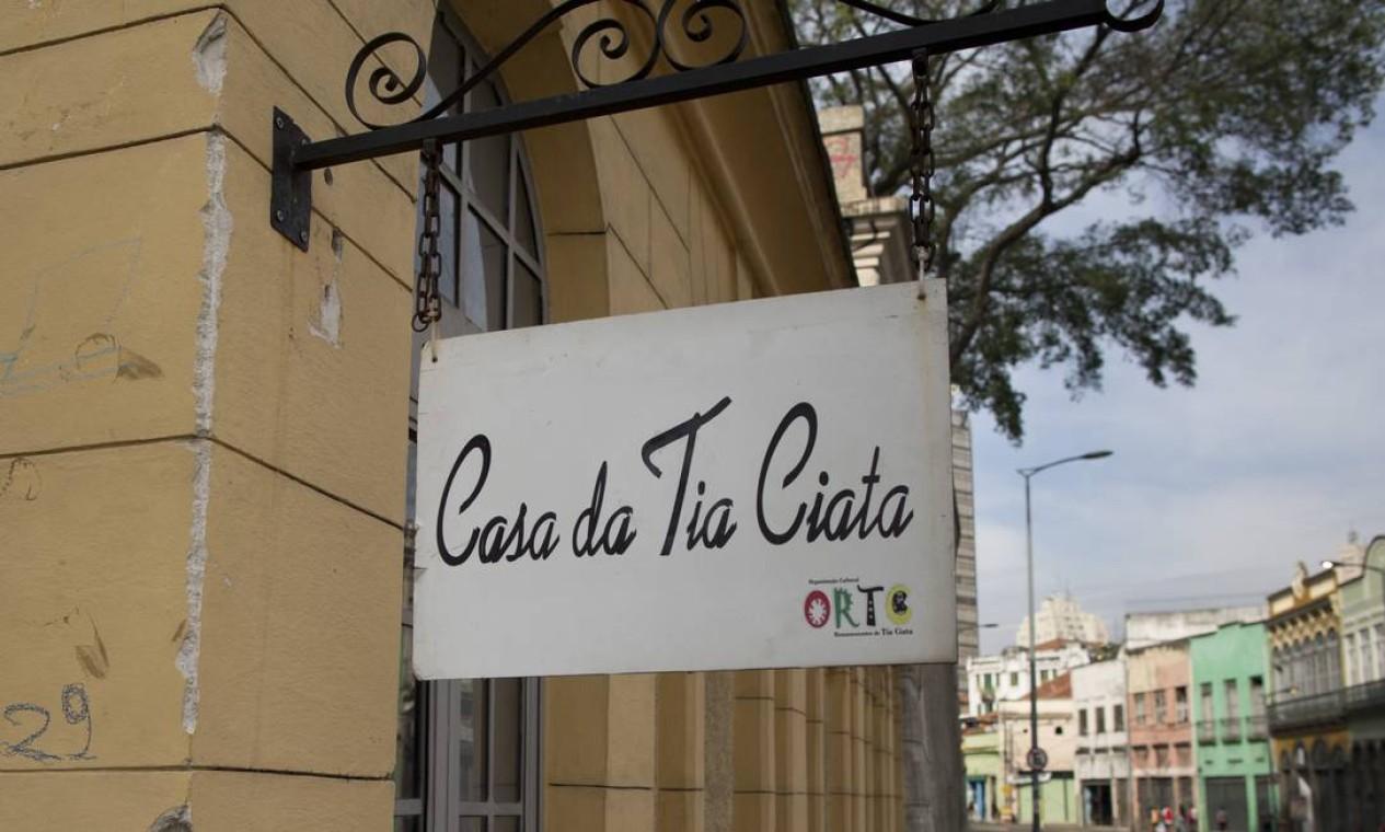 Casa da Tia Ciata. Espaço cultural mantém viva a memória sobre a veterana do samba Foto: Márcia Foletto / Agência O Globo