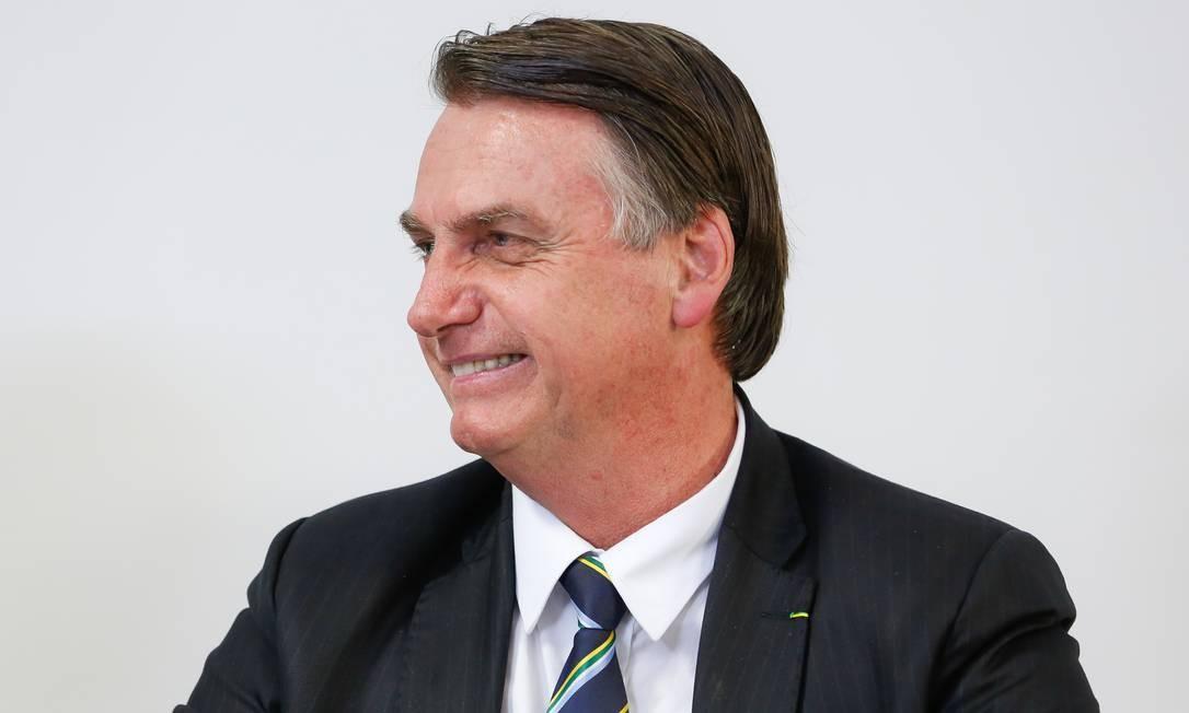 O presidente Jair Bolsonaro durante transmissão para redes sociais Foto: Carolina Antunes/Presidência/23-05-2019