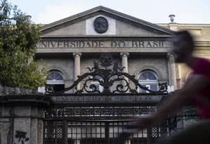 Fachada da UFRJ no campus da Praia Vermelha Foto: Alexandre Cassiano / Agência O Globo
