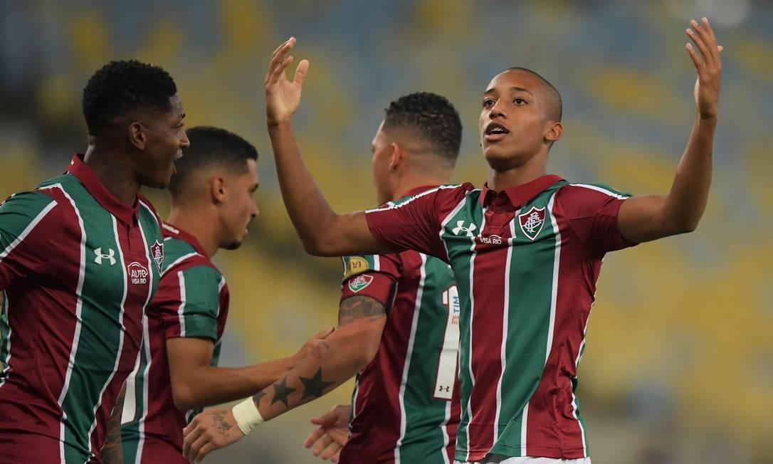 João Pedro virou a sensação do Fluminense após últimas atuações Foto: CARL DE SOUZA / AFP