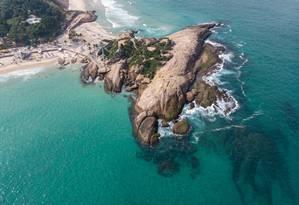 Águas cristalinas na Pedra do Arpoador Foto: Agência O Globo