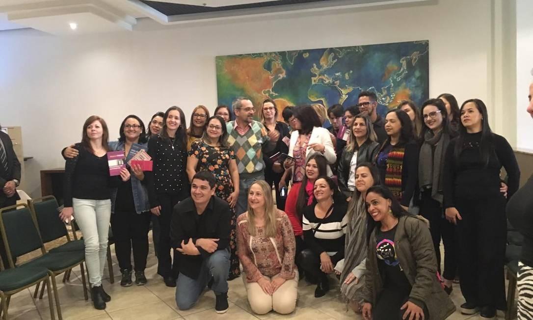 Os vencedores do prêmio Professores do Brasil, organizado pelo MEC, que se encontraram com o ministro Foto: Ana Paula Ribeiro
