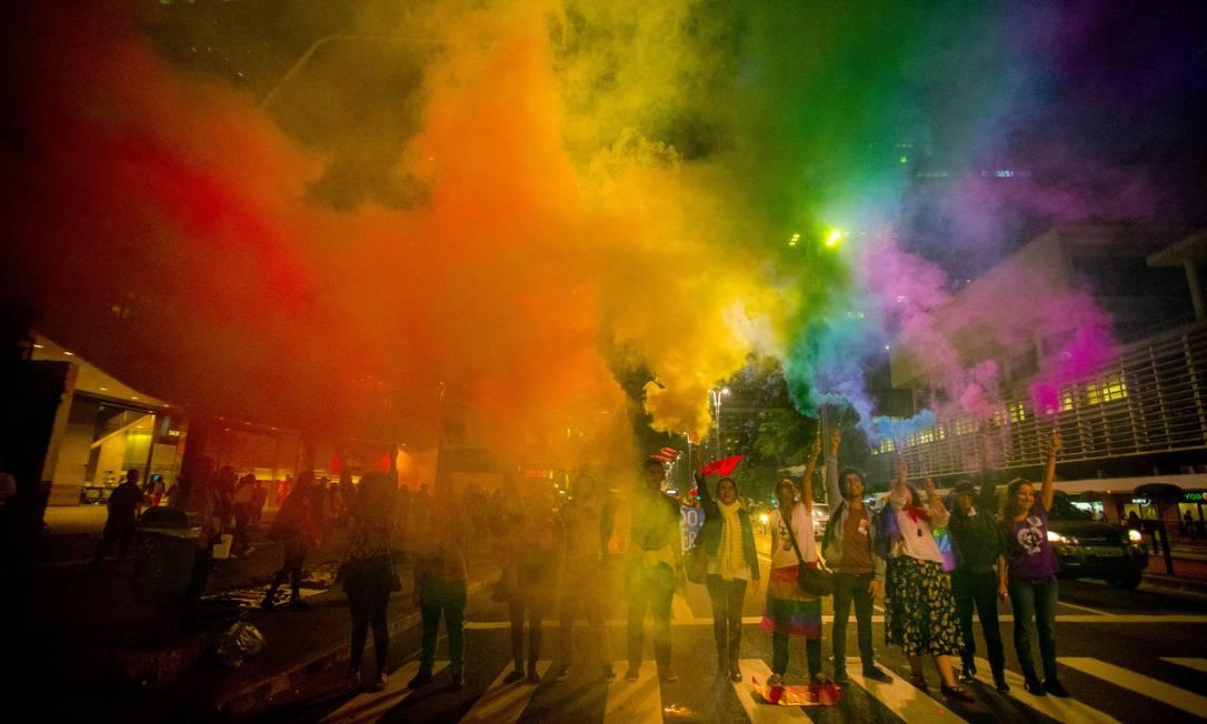 Parada do orgulho LGBT em São Paulo Foto: NurPhoto / NurPhoto via Getty Images