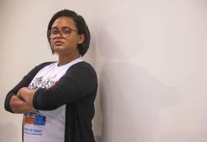 A estudante Maria Luiza Sales Pereira, de 19 anos Foto: Marcelo Regua / Agência O Globo
