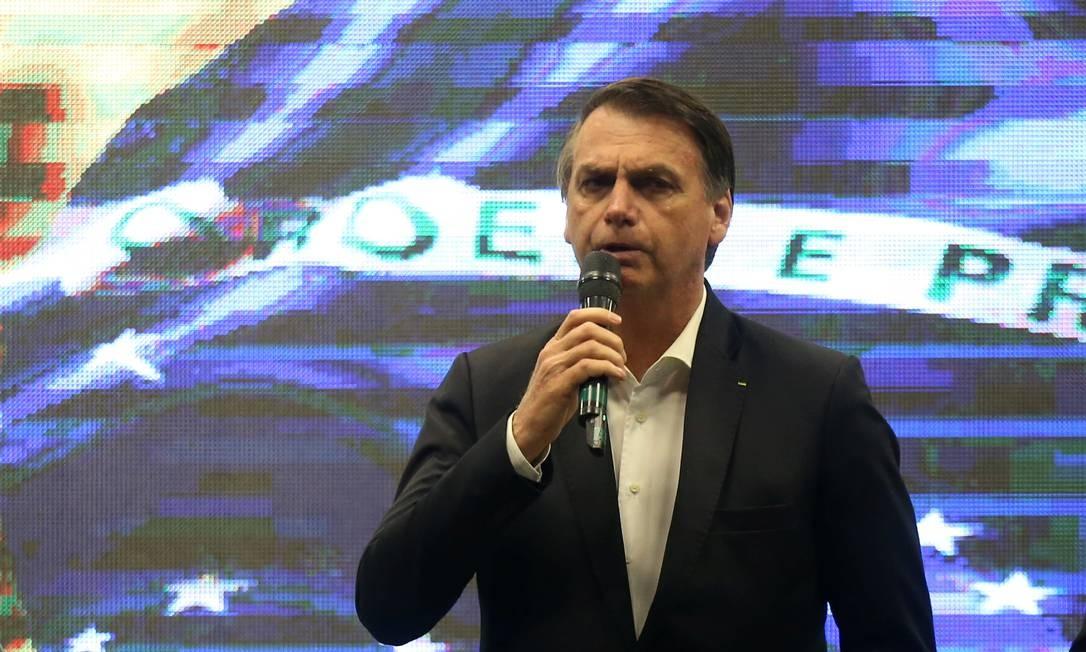 Bolsonaro discursa em igreja na Barra da Tijuca, no Rio Foto: FABIANO ROCHA / Agência O Globo