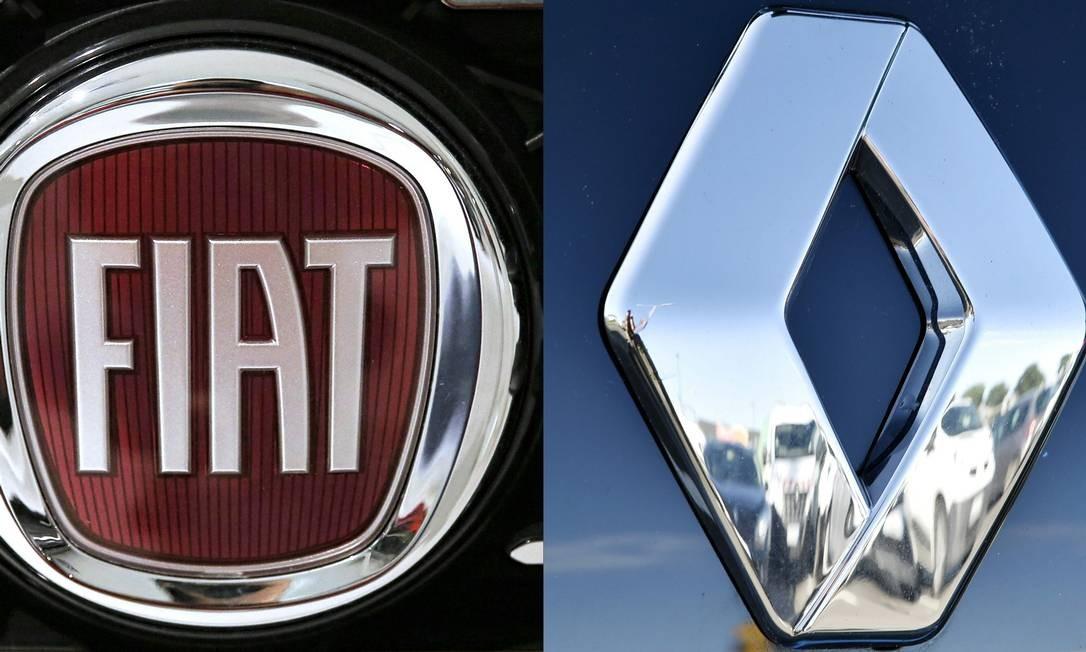 Fiat Chrysler e Renault: aliança global à vista Foto: AFP