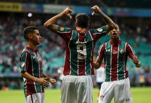 Pedro está na mira do Flamengo Foto: Terceiro / LUCAS MERÇON / FLUMINENSE F.C.
