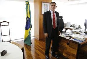 O ministro da Secretaria de Governo da Presidência da República do governo Jair Bolsonaro, General Santos Cruz Foto: Jorge William / O Globo