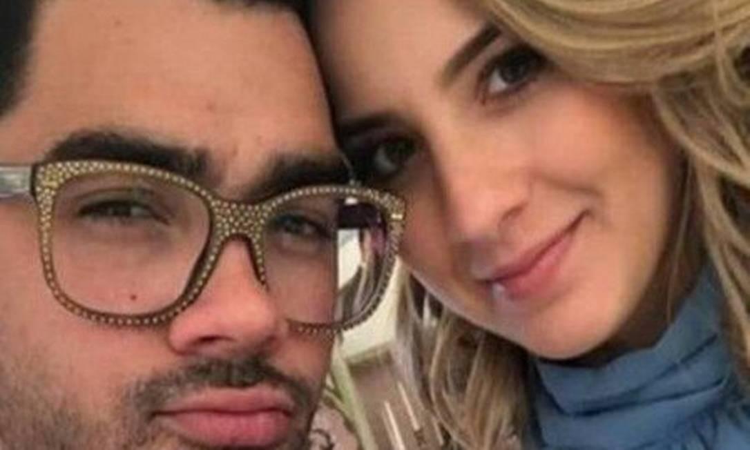 Gabriel e a namorada Foto: Reprodução / Agência O Globo