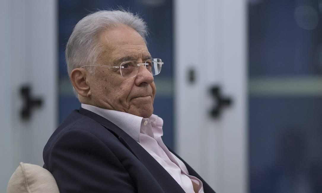 O ex-presidente Fernando Henrique Cardoso é um dos fundadores do PSDB Foto: Edilson Dantas / Agência O Globo