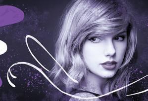 Cantora americana Taylor Swift Foto: Arte de Nina Millen sobre foto de divulgação