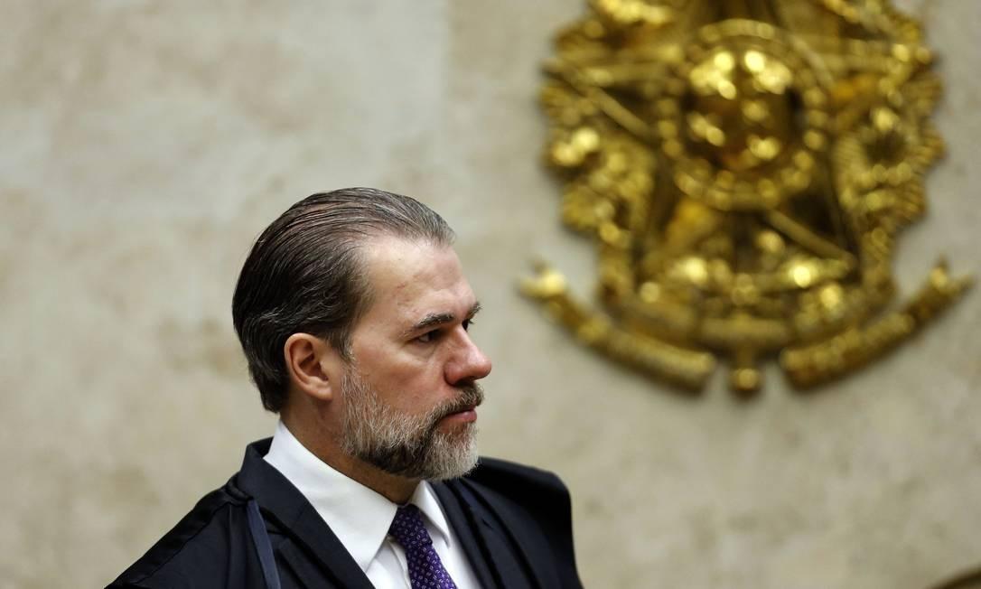 O presidente do Supremo Tribunal Federal (STF), Dias Toffoli Foto: Jorge William / Agência O Globo