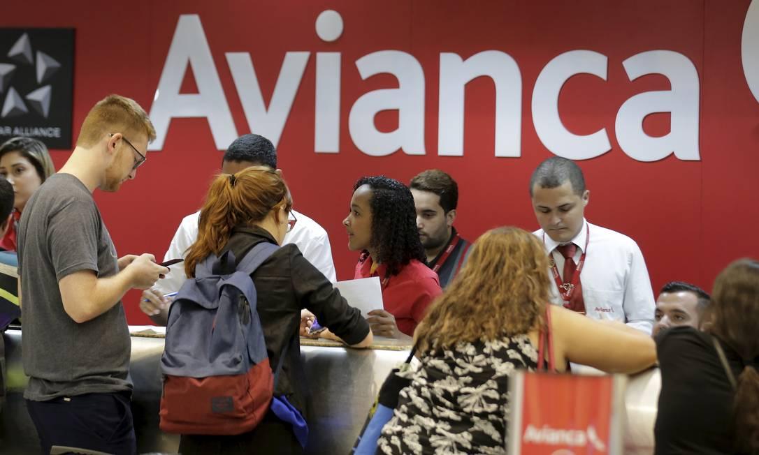 Guichê da Avianca no aeroporto Santos Dumont, no Rio Foto: Marcelo Theobald / Agência O Globo