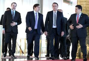 Bolsonaro recebe Dias Toffoli, Rodrigo Maia e Davi Alcolumbre no Palácio da Alvorada Foto: HANDOUT / REUTERS