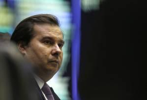 O presidente da Câmara, Rodrigo Maia 28/05/2019 Foto: Jorge William / Agência O Globo