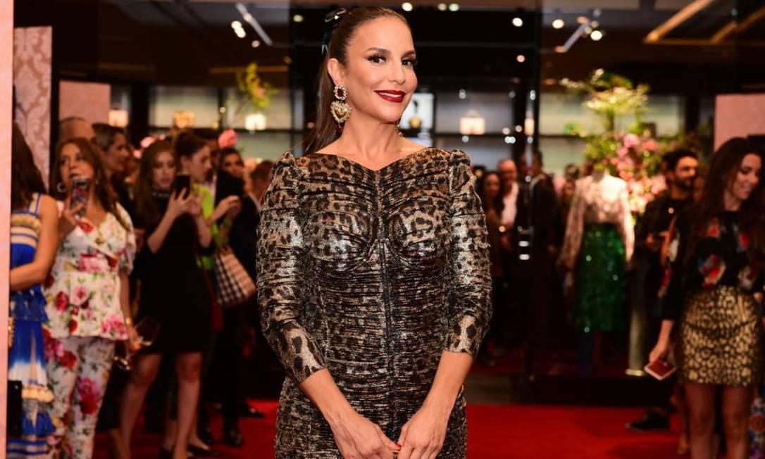Ivete Sangalo em evento da Dolce & Gabbana Foto: Lu Prezia
