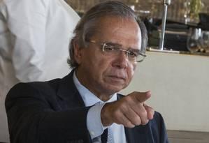 O ministro da Economia Paulo Guedes em encontro com empresarios na FIESP Foto: Edilson Dantas - Agência O Globo