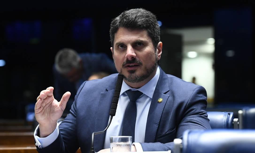 O senador Marcos do Val (PPS-ES) no plenário do Senado Foto: Marcos Oliveira/Agência Senado/22-05/2019