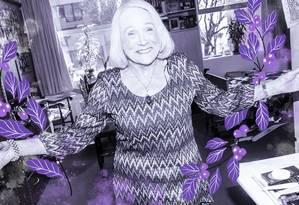 Zelda Fassler posa em seu apartamento em Nova York. Como outras mulheres de mais de 60 anos, ela usa maquiagem e se preocupa com a aparência no dia a dia Foto: Dolly Faibyshev/The New York Times
