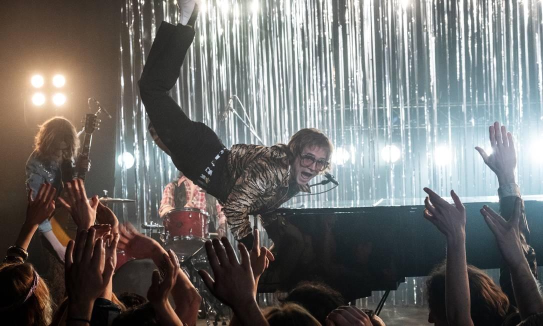 """O ator Taron Egerton como Elton John no filme """"Rocketman"""" Foto: David Appleby / Divulgação"""